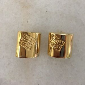Vintage Givenchy Gold tone Clip on Earrings
